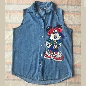 Vintage Disney Mickey Mouse Unlimited Top Medium